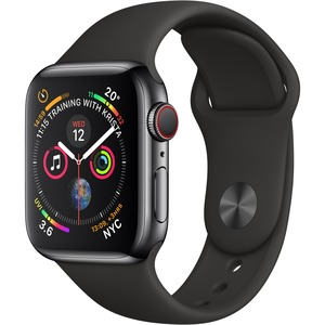 APPLE WATCH S4 GPS+Cellular Black SS
